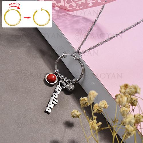 collar de DIY en acero inoxidable -SSNEG143-15494