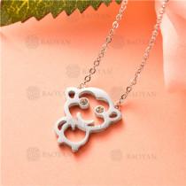 collar de acero inoxidable -SSNEG92-7457