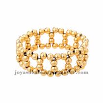 pulsera de bola dorado moda en acero inoxidable -SSBTG183991