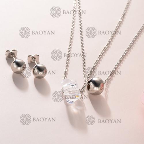 Conjunto Collar Multi Capa de Acero Inoxidable -SSNEG126-12139