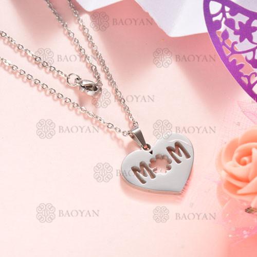 Collar de Acero Inoxidable para Mujer -SSNEG143-12066
