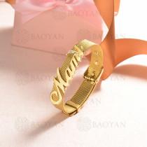 pulsera de charm en acero inoxidable para mujer -SSBTG142-16178-G