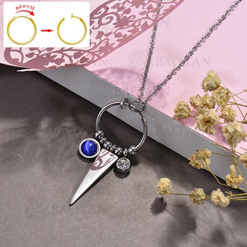 collar de DIY en acero inoxidable -SSNEG143-15487