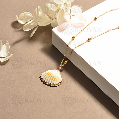 conjunto de collar y aretes en acero inoxidable -SSNEG142-15096