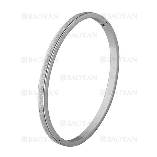 pulsera plateado rayas brillo en acero inoxidable - SSBTG1225562