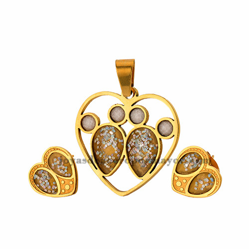 dije de corazon de acero dorado venta online -SSSTG032668