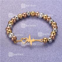 Pulsera con Bolitas Oro Dorado Para Mujer -SSBTG95-6246