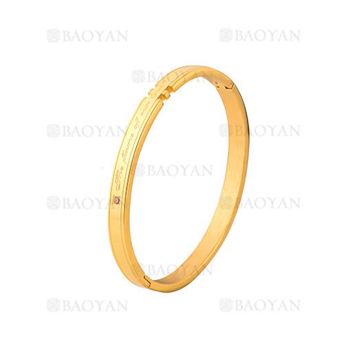 pulsera de moda de dorado en acero inoxidable-SSBTG1225009