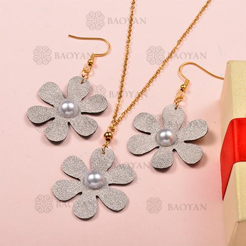 Conjunto de Collar y Aretes Fatansia -SSNEG142-12709