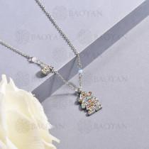 Collar de multi color en acero inoxidable -SSNEG142-14679