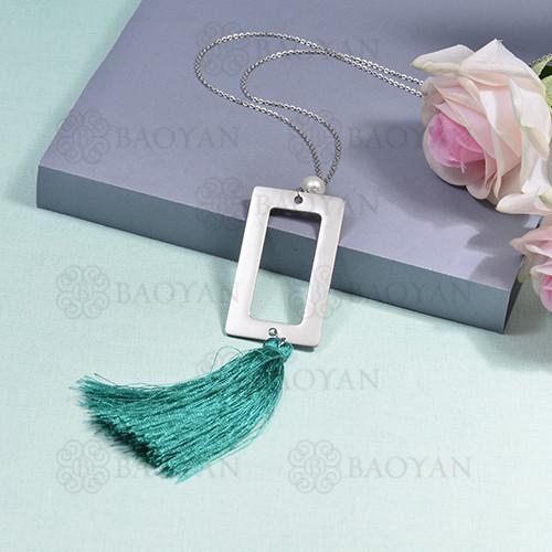 collar de borla en acero inoxidable -SSNEG142-16274