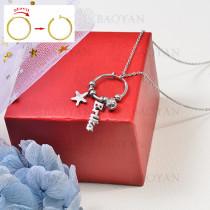 collar de charms DIY en acero inoxidable -SSNEG142-16244