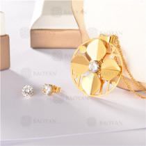 conjunto de dorado en acero inoxidable-SSNEG107-10109