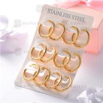 argollas de acero dorado inoxidable-SSEGG26-7264