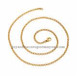 cadena 3mm dorado en acero inoxidable -SSCDG46226