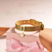 pulsera de charm en acero inoxidable para mujer -SSBTG142-16142-G