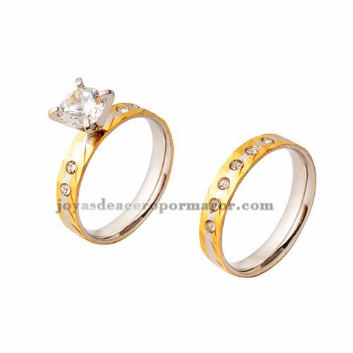 anillos con cristal de dorado en acero inoxidable para mujer-SSRGG971533