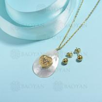 conjunto de collar de bronce y concha -SSCSG107-15847