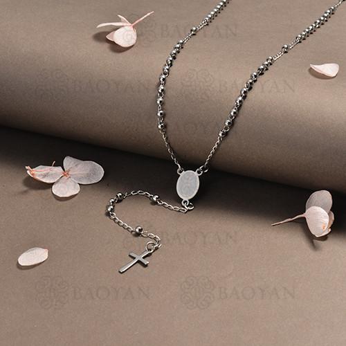 rosario en acero inoxidable -SSNEG95-16391