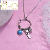 collar de DIY en acero inoxidable -SSNEG143-15476