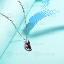 collares de acero inoxidable para mujer -SSNEG143-14838-S