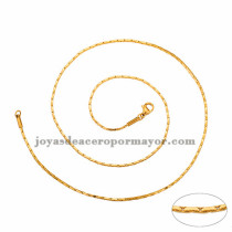 cadena 1mm estilo simple dorado   en acero inoxidable-SSCDG46187