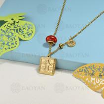 collar de charms en acero inoxidable -SSNEG142-16215