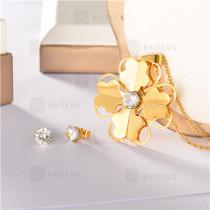 conjunto de dorado en acero inoxidable-SSNEG107-10108