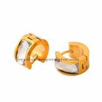 huggies con brillo de acero inoxidable en color oro dorado-SSEGG392108