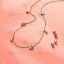 Conjunto de Acero Inoxidable para Mujer -SSNEG143-11347