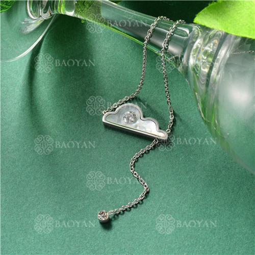 Collar de Concha en Acero Inoxidable -SSNEG143-10446