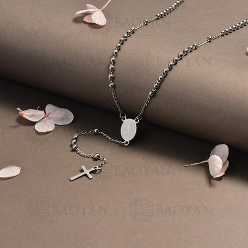 rosario en acero inoxidable -SSNEG95-16398