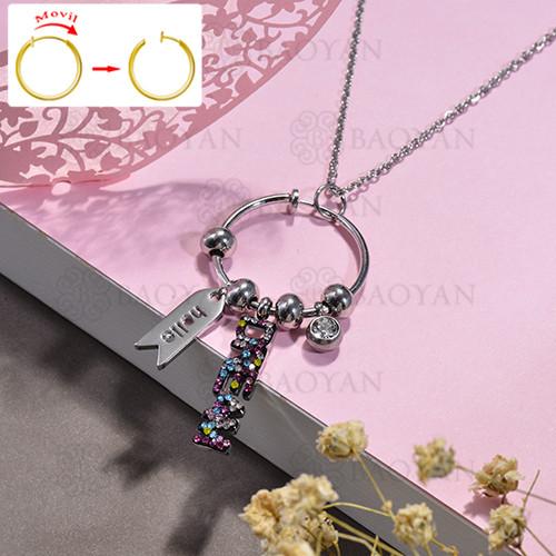 collar de DIY en acero inoxidable -SSNEG143-15488