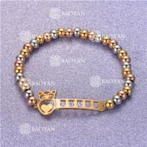 Pulsera con Bolitas Oro Dorado Para Mujer -SSBTG95-6298