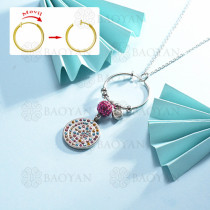 collar de multi color charm DIY en acero inoxidable -SSNEG142-14952