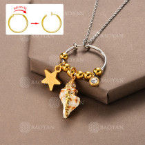Collar DIY de Aros Movil con Charms en Acero Inoxidable -SSNEG142-12508