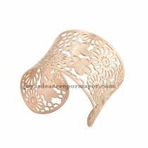pulsera de flores bonitas en acero rosado inoxdable pra chica -SSBTG213287