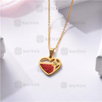 Collar Regalo para Novia en el Dia de Amor en Acero Inoxidable -SSNEG143-11333