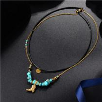 Collar de Multi-Capa en Acero Inoxidable -SSNEG142-8447