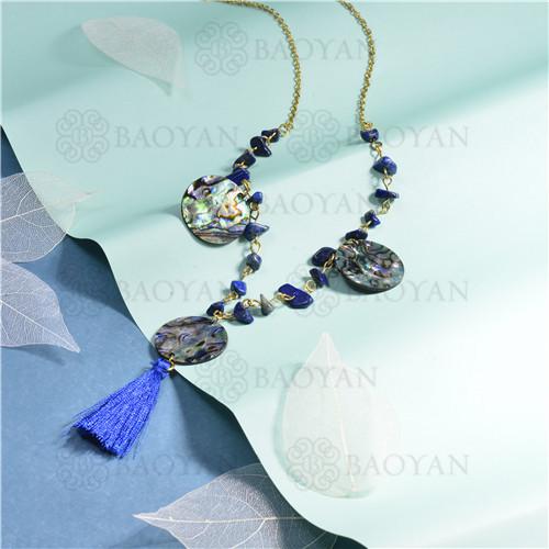 joyeria de coleccion de concha de mar -SSNEG142-15842