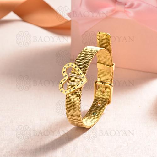 pulsera de charm en acero inoxidable para mujer -SSBTG142-16172-G
