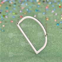 Collar de Inicial Letra para MujerSSNEG81-4626