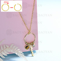 collar de DIY en acero inoxidable -SSNEG143-15441