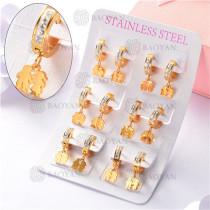 argollas de acero dorado inoxidable-SSEGG26-7267