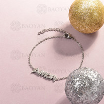 Pulsera de Acero Inoxidable Cristal para Mujer -SSBTG143-14816-S