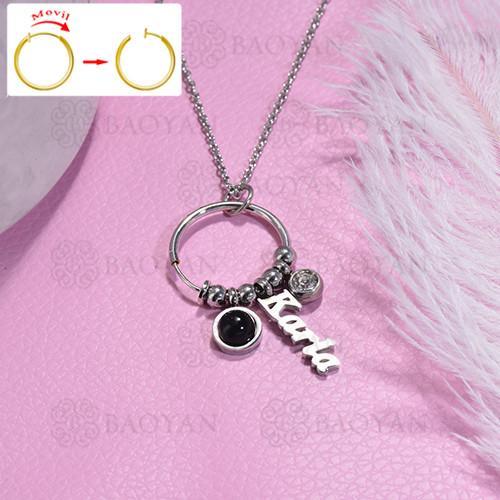 collar de DIY en acero inoxidable -SSNEG143-15483
