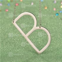 Collar de Inicial Letra para MujerSSNEG81-4624