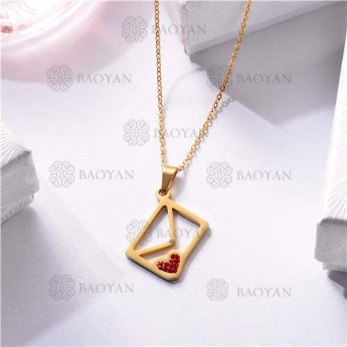 Collar Regalo para Novia en el Dia de Amor en Acero Inoxidable -SSNEG143-11332
