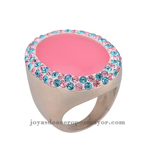 anillos para damas con peloticas cristal