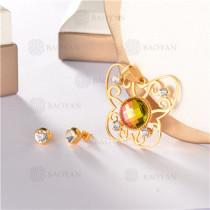 conjunto de dorado en acero inoxidable-SSSTG107-8155